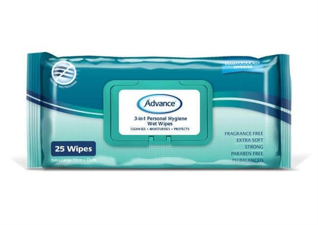 3-in-1 Personal Hygiene/Incontinence Wipes