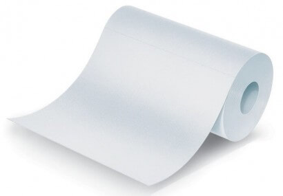 Flushable Disposable Liner/Wipe on a Roll